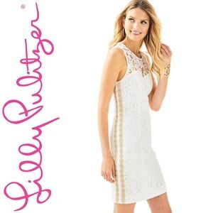 46235c1d8c2b38 NEW Lily Pulitzer Mila Shift Corded Floral Lace